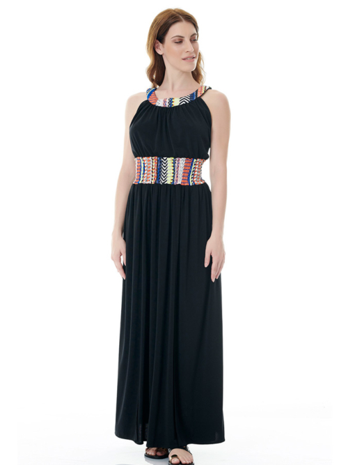 T1601 BLACK1 JOYOUS LONG DRESS TIKTO TIKTOATHENS