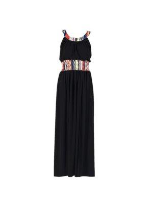 """Joyous"" Long Dress_T1601_FRONT_BLACK"