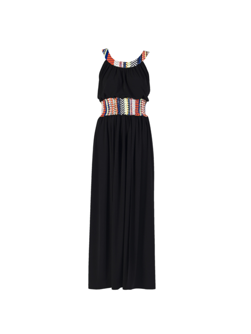 """Joyous"" Long Dress_T1601_FRONT_BLACK TIKTO TIKTOATHENS"