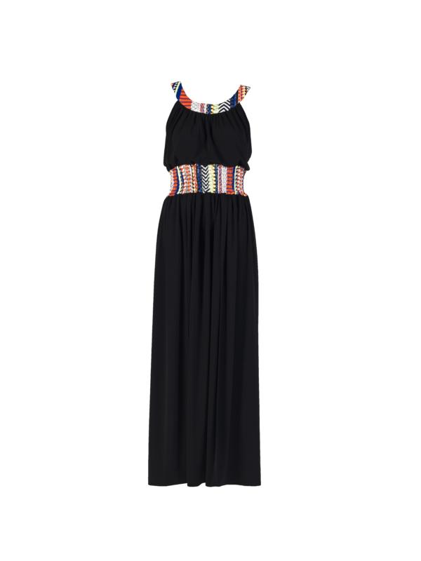 """""""Joyous"""" Long Dress_T1601_FRONT_BLACK TIKTO TIKTOATHENS"""
