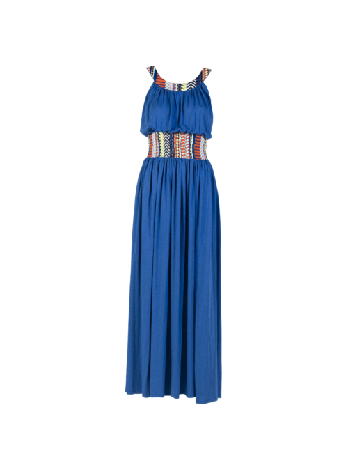 """Joyous"" Long Dress_T1601_FRONT_BLUE TIKTO TIKTOATHENS"