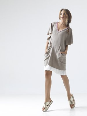 T1605_LOOKBOOK BE HONEST JERSEY AMERICAN FLEECE COTTON DRESS TIKTO TIKTOATHENS