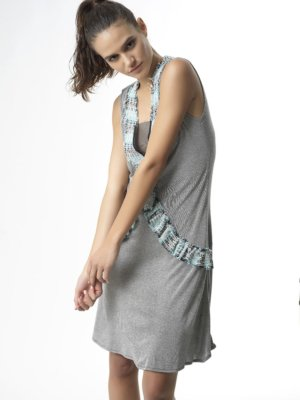 T1727 POSE SOOTHE YOUR SOUL LINEN MIDI DRESS TIKTO TIKTOATHENS