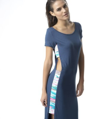 T1729 SIDE_BLUE FOLLOW YOUR HEART MIDI DRESS TIKTO TIKTOATHENS