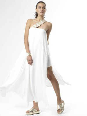 """SHOW UP"" Long Dress regular fit lightweight fabric by Tikto Athens TIKTO TIKTOATHENS"