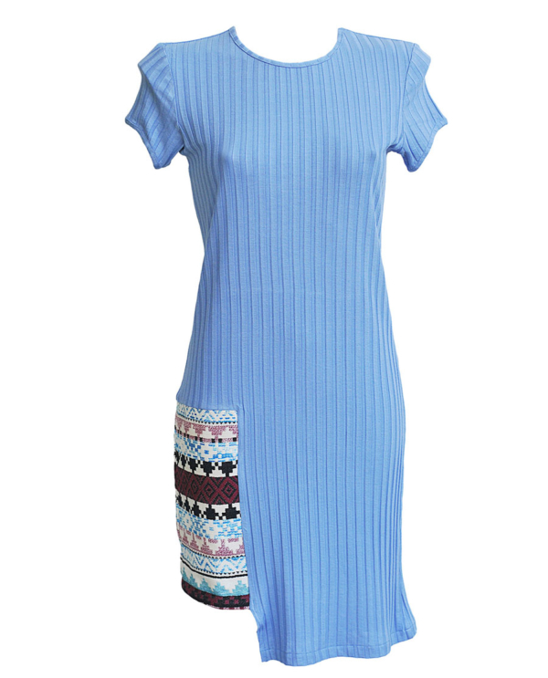 T1805 LIGHT BLUE FRONT LIGHT OUT DRESS TIKTO TIKTOATHENS