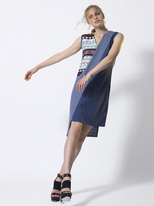 T1809 BLUE SENSATIONAL DRESS TIKTO TIKTOATHENS