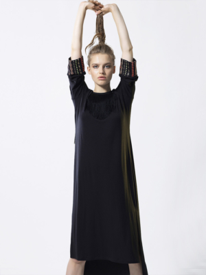 T1832 BLACK HEAVENLY DRESS TIKTO TIKTOATHENS