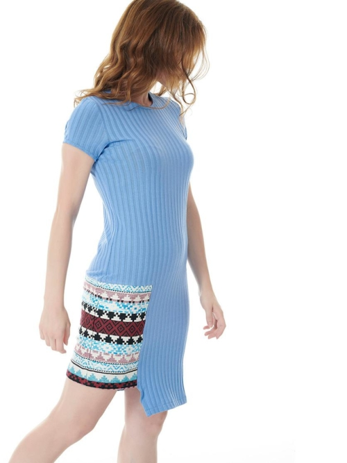LIGHT OUT DRESS LIGHT BLUE SIDE TIKTO TIKTOATHENS