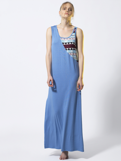 T1810 BLUE FRONT SUMMER TIME DRESS TIKTO TIKTOATHENS
