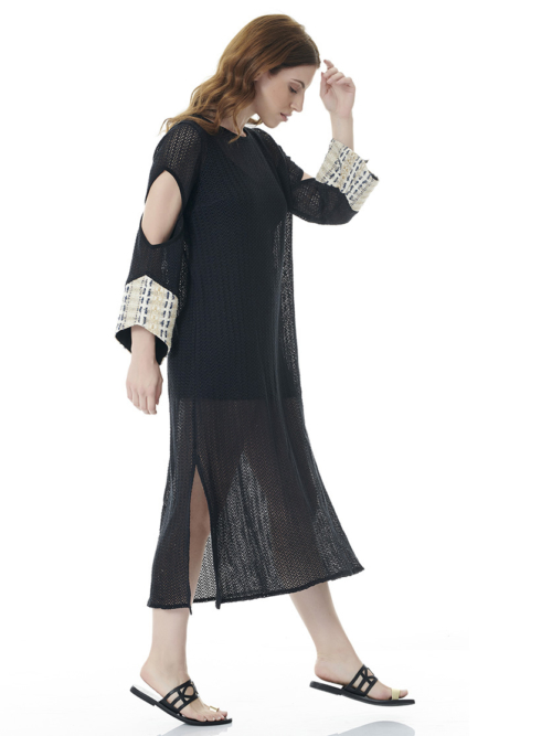 T1814 BLACK SUNSHINE KAFTAN DRESS TIKTO TIKTOATHENS