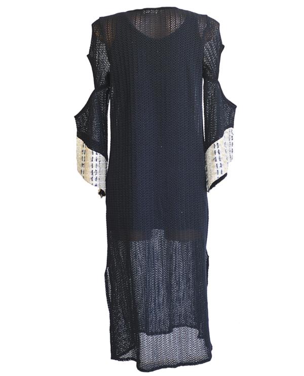 T1814 BLACK BACK SUNSHINE KAFTAN DRESS TIKTO TIKTOATHENS