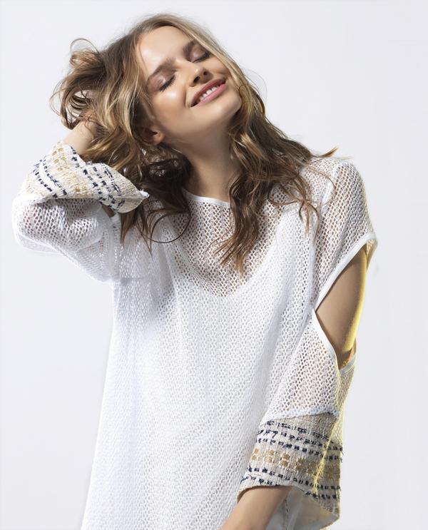 T1814 WHITE CLOSE SUNSHINE KAFTAN DRESS TIKTO TIKTOATHENS