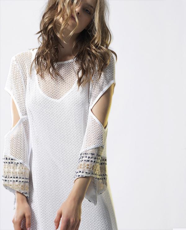 T1814 WHITE CLOSE UP SUNSHINE KAFTAN DRESS TIKTO TIKTOATHENS