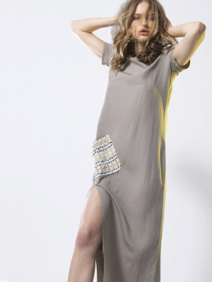 T1817 SAND GLARE DRESS TIKTO TIKTOATHENS
